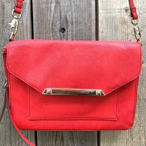 Stella & Dot Red Crossbody / Clutch